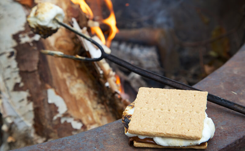 Roasting S'mores